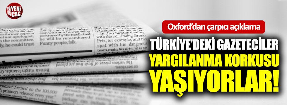 """"""" Türkiye'deki gazeteciler yargılanma korkusu yaşıyor"""""""