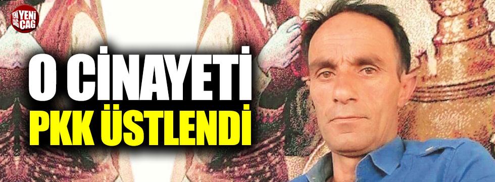 O cinayeti PKK üstlendi