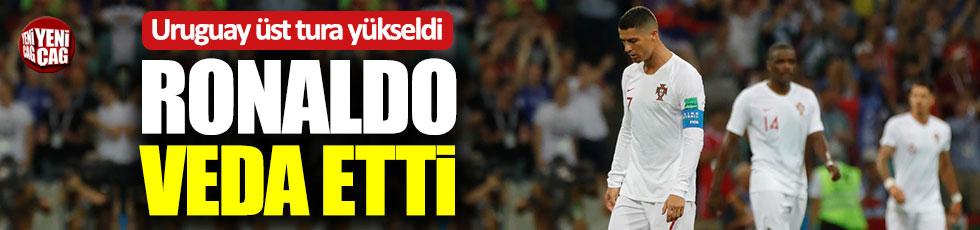 Ronaldo veda etti, Uruguay çeyrek finale yükseldi