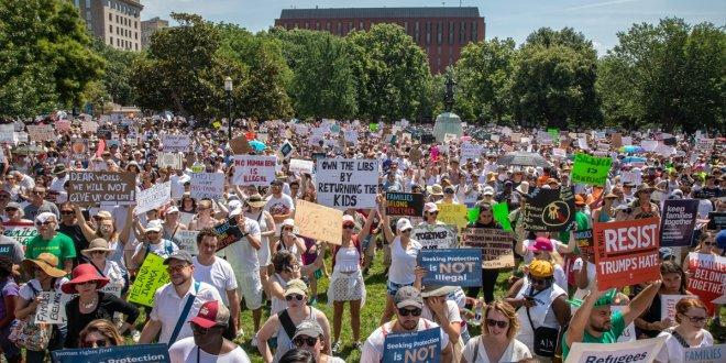 ABD'de Trump'a göçmen protestosu