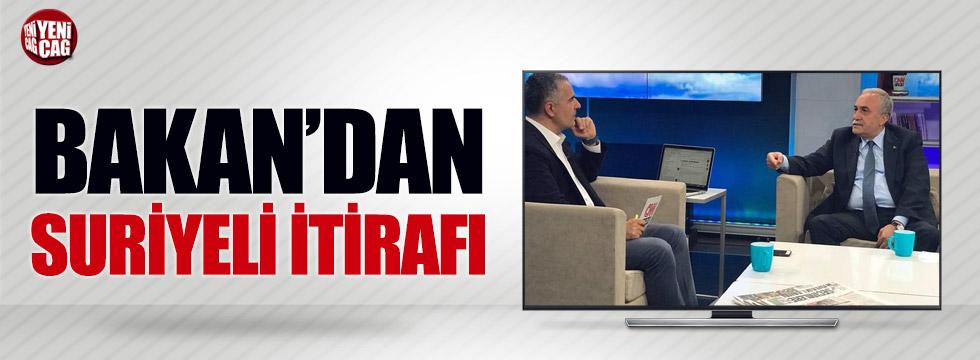 Bakan'dan Suriyeli itirafı