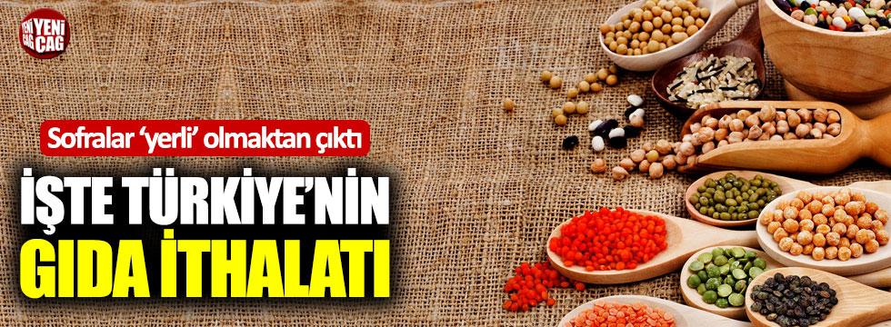 İşte Türkiye'nin gıda ithalatı