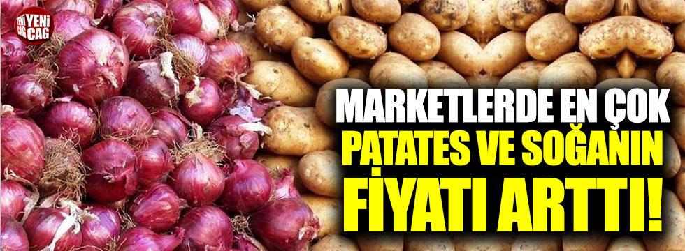 Marketlerde en çok soğan ve patates pahalandı