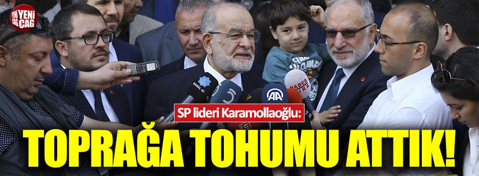 Karamollaoğlu: Toprağa tohumu attık