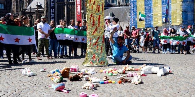 Hollanda'da 'Dera' protestosu