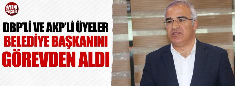 DBP'li ve AKP'li üyeler başkanı görevden aldı