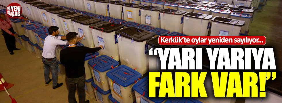 Kerkük'te oylar yeniden sayılıyor