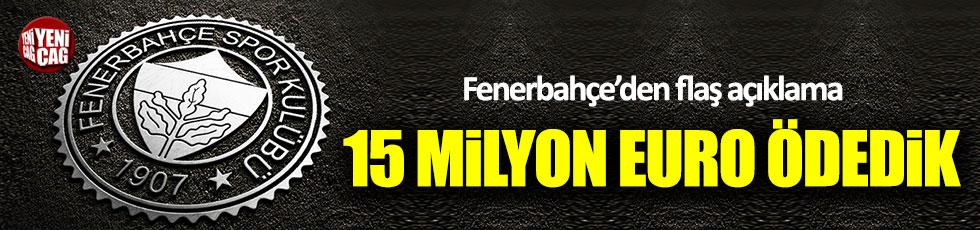 Fenerbahçe'de futbolculara 15 milyon euro ödendi