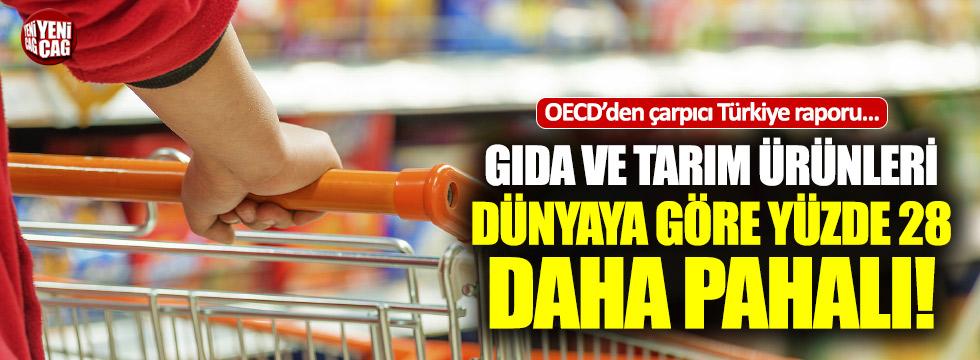 Türkiye'deki gıda ve tarım ürünleri, dünyaya göre yüzde 28 daha pahalı