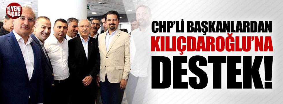 CHP'li ilçe başkanlarından Kılıçdaroğlu'na destek