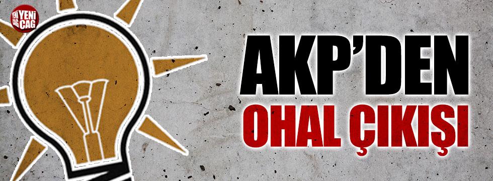 AKP'li Elitaş'tan OHAL açıklaması