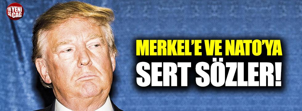 Trump'tan Angela Merkel'e sert sözler!