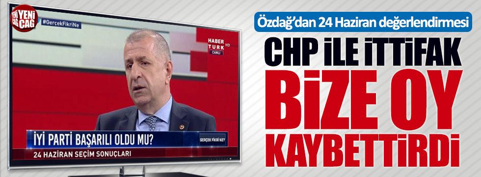 """Özdağ: """"CHP ile ittifak bize oy kaybettirdi"""""""
