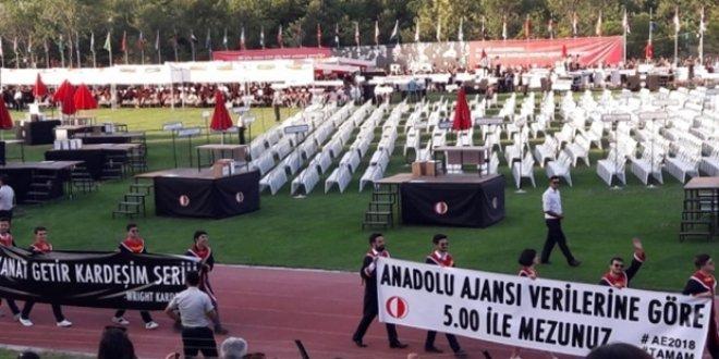 ODTÜ'de pankart taşıyan 3 öğrenciye gözaltı