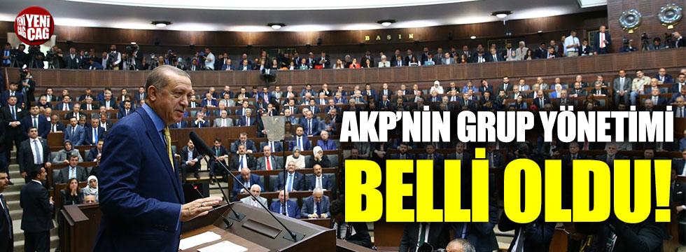 AKP'nin grup yönetimi belli oldu