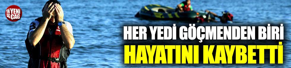 Akdeniz'de her 7 göçmenden biri hayatını kaybetti