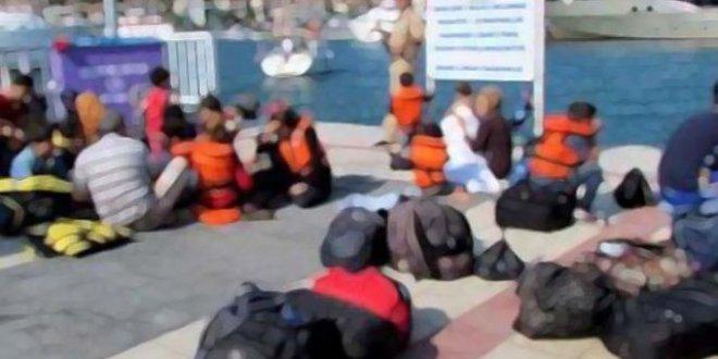 38 göçmen saklandığı yerde yakalandı
