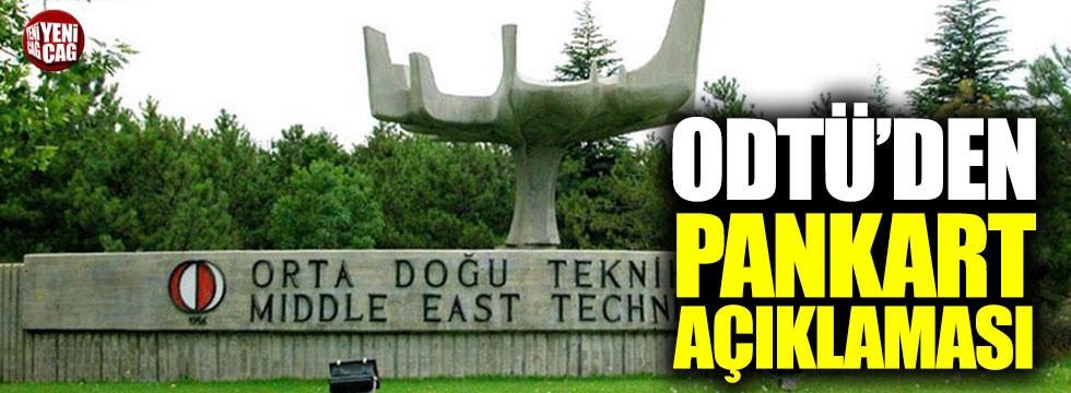 ODTÜ'den pankart açıklaması