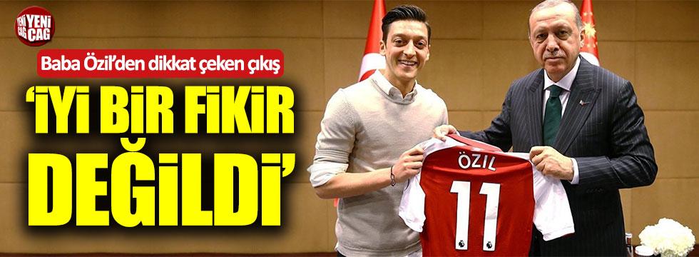 Mesut Özil'in babasından Erdoğanlı fotoğrafa tepki