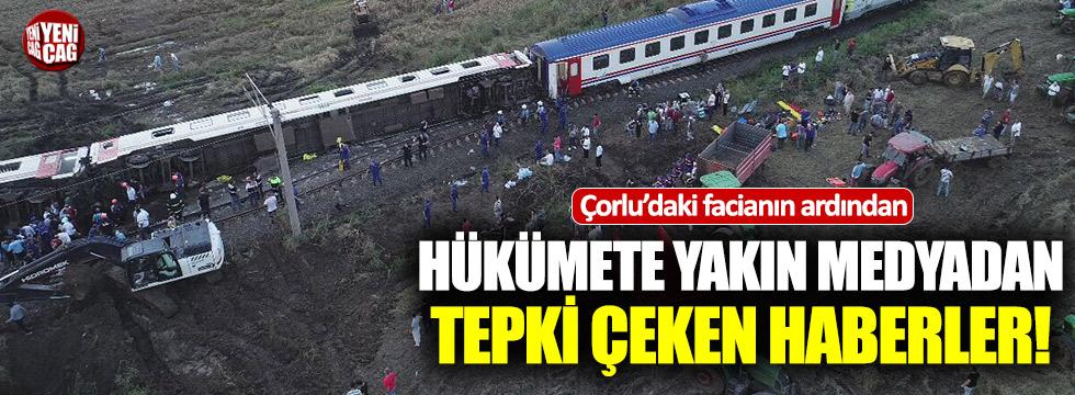 Tren kazasının ardından skandal haberler
