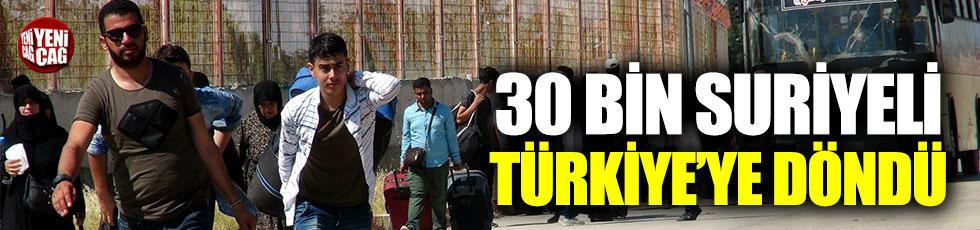 30 bin Suriyeli Türkiye'ye döndü