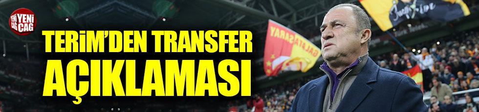 Fatih Terim'den transfer açıklaması