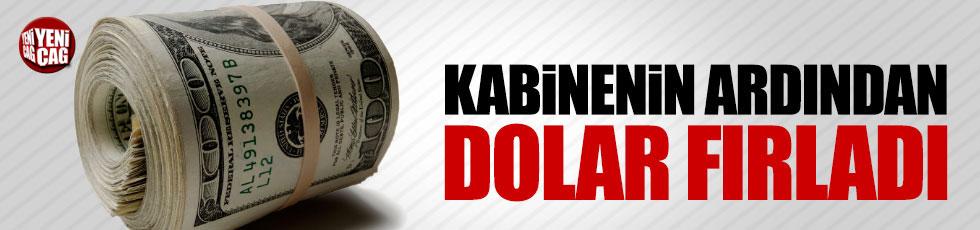 Kabinenin açıklanmasının ardından Dolar ve Euro fırladı