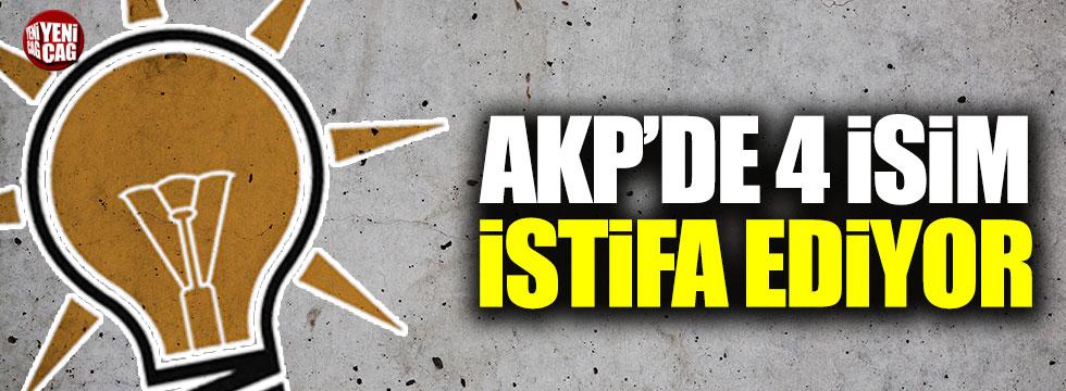 AKP'de dört isim milletvekilliğinden istifa edecek