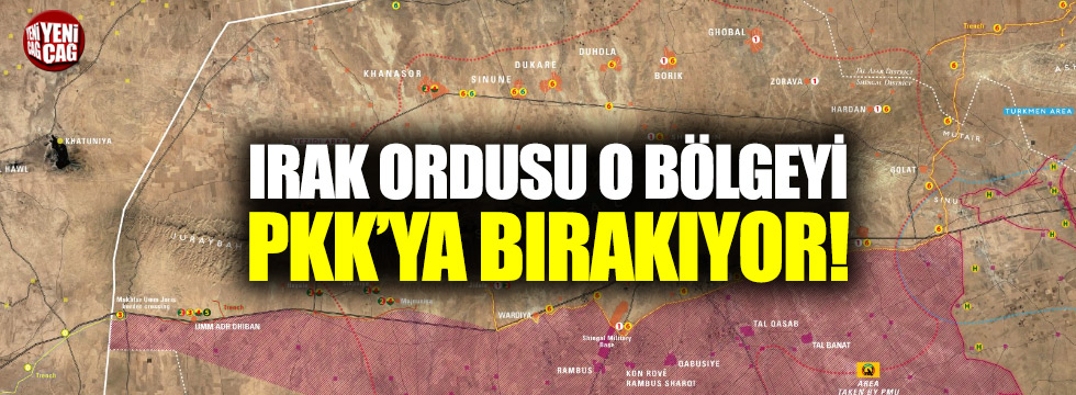Irak ordusu o bölgeyi PKK'lılara bıraktı