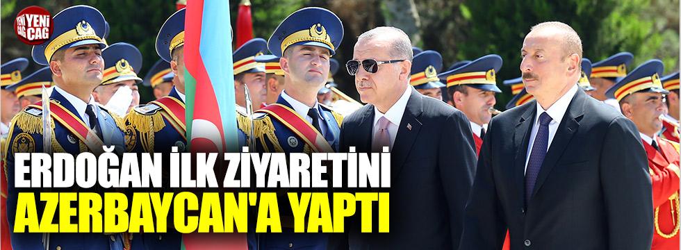 Erdoğan ilk ziyaretini Azerbaycan'a yaptı