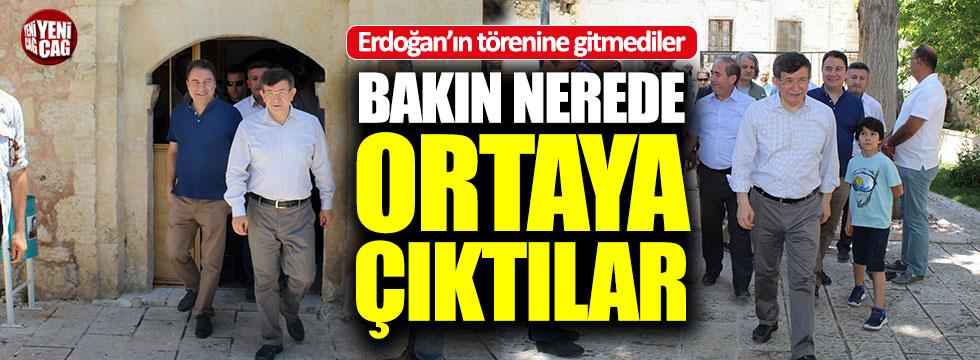 Erdoğan yemin ederken Davutoğlu ve Babacan bakın nerede çıktı