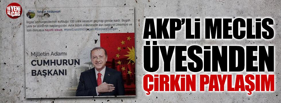 AKP'li Meclis üyesinden çirkin paylaşım