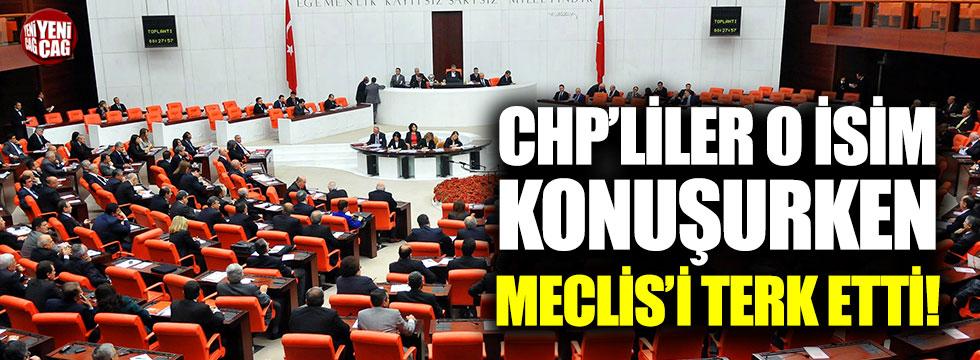 CHP'liler o Bakan konuşurken Meclis'i terk etti