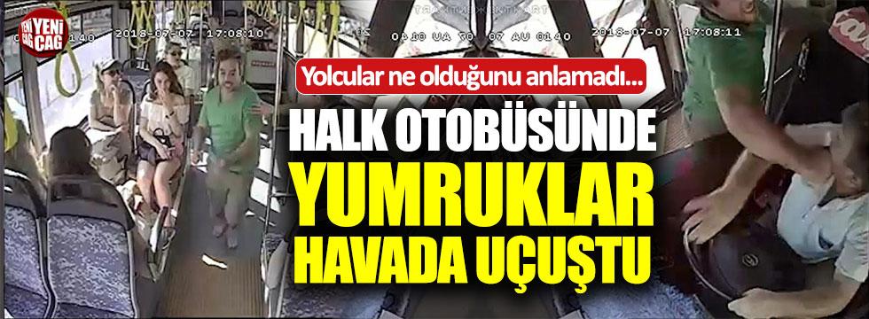 Antalya'da hareket halindeki otobüste yolcu-şoför kavgası