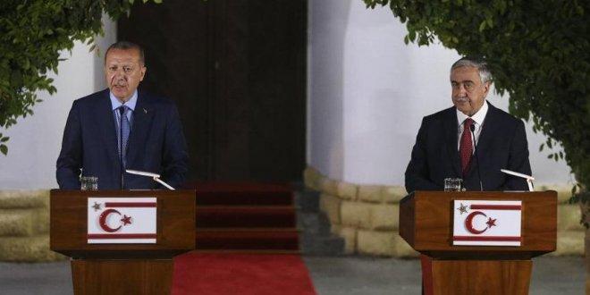 Erdoğan Kıbrıs'ta konuştu