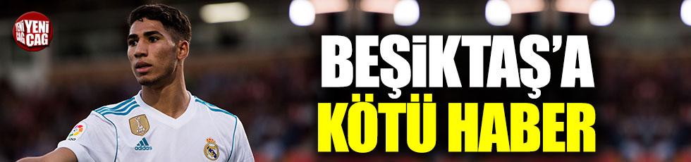 Beşiktaş'a Achraf Hakimi'den kötü haber