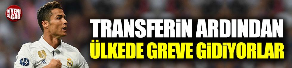 Ronaldo'nun transferinin ardından işçiler greve gidiyor