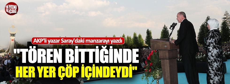AKP'li yazar Beştepe'deki manzarayı böyle yazdı