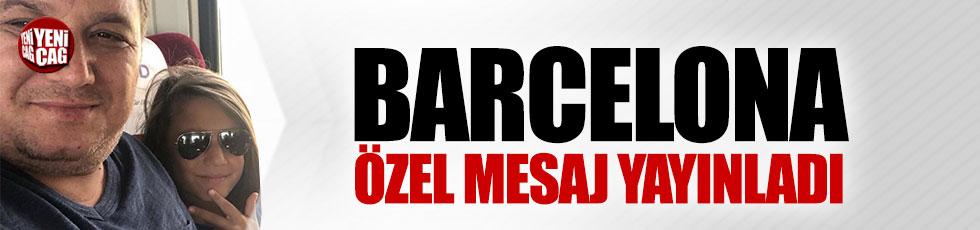 Barcelona'dan küçük Oğuz için başsağlığı mesajı