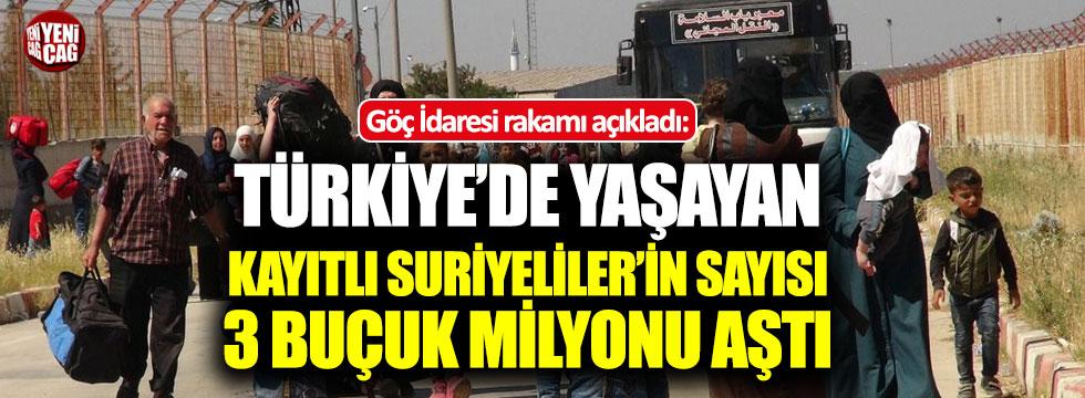 """Göç idaresi: """"Türkiye'de kayıtlı Suriyeli sayısı 3 milyon 500 bini geçti"""""""