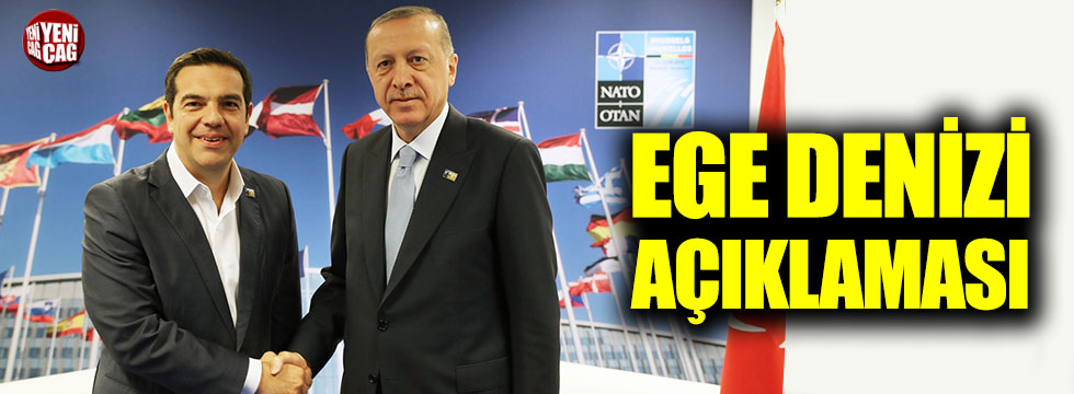Çipras ve Erdoğan'dan Ege Denizi açıklaması