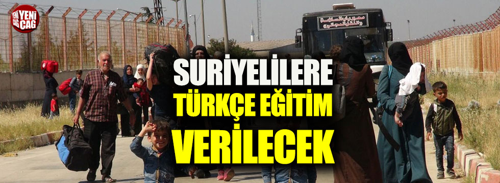 Suriyelilere Türkçe eğitim verilecek