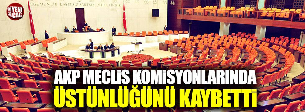 AKP Meclis komisyonlarında üstünlüğünü kaybetti