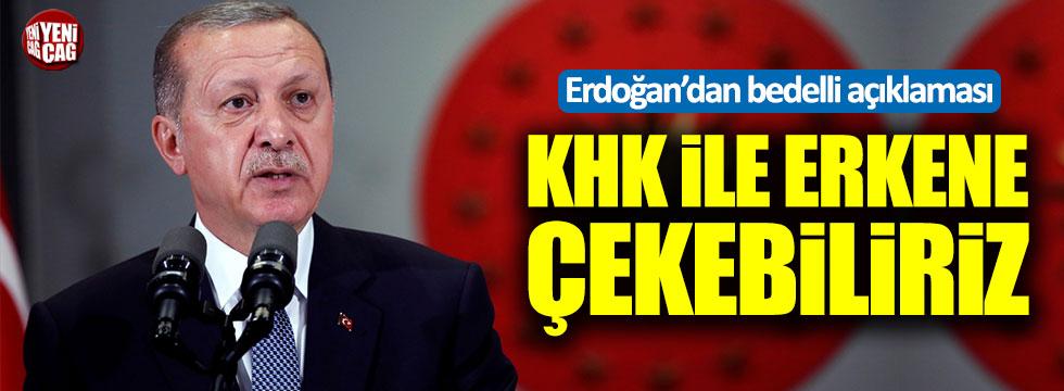 Erdoğan: Bedelli askerliği KHK ile erkene çekebiliriz