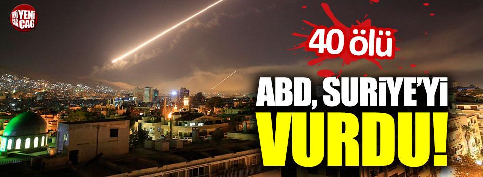 ABD, Suriye'yi vurdu! 40 ölü