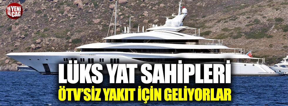 Lüks yat sahipleri ÖTV'siz motorin için Türkiye'de