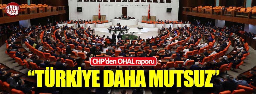 """CHP'den OHAL raporu: """"Türkiye daha mutsuz"""""""