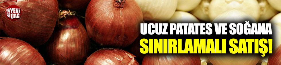 Ucuz patates ve soğana kilo sınırlamalı satış