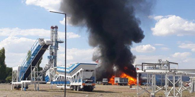 Gölbaşı'nda fabrika yangını