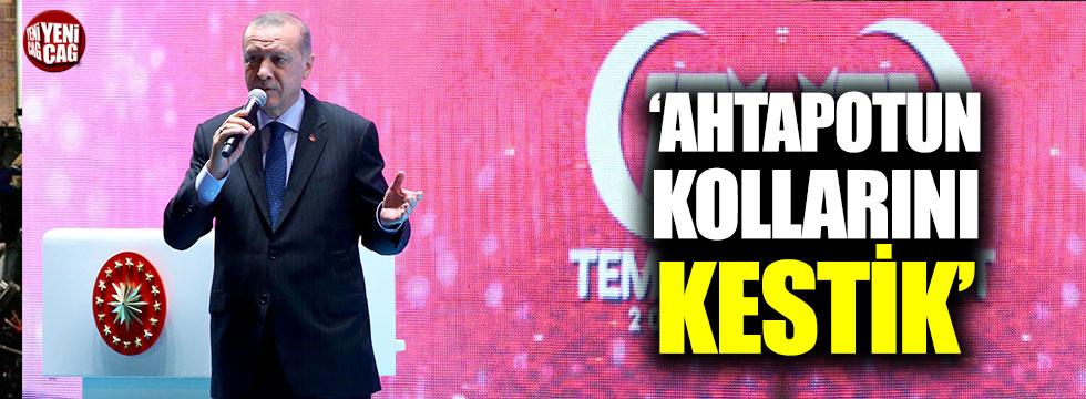 """Erdoğan: """"Ahtapotun kollarını kestik"""""""